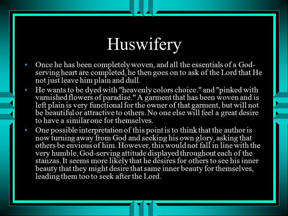 Huswifery