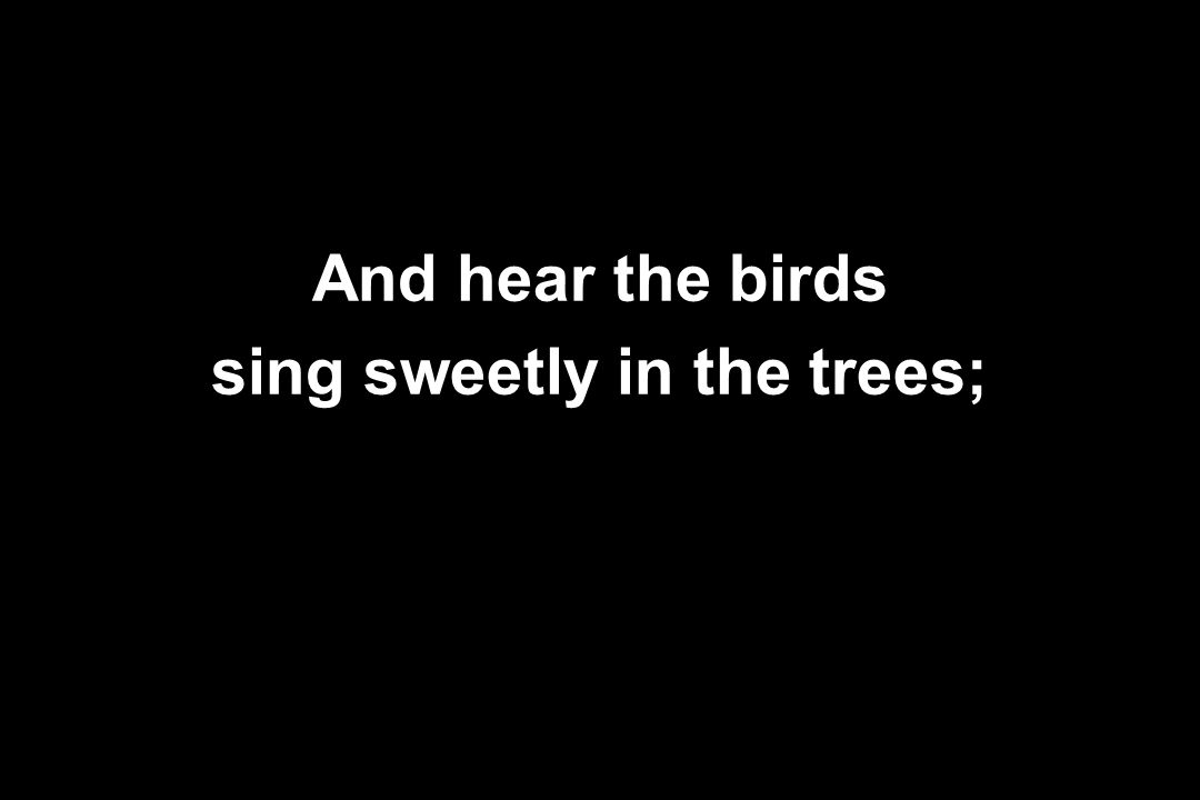 sing sweetly in the trees;