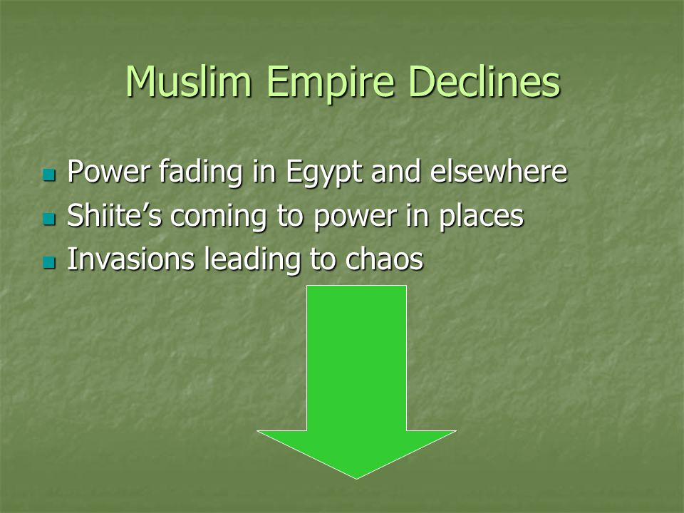 Muslim Empire Declines