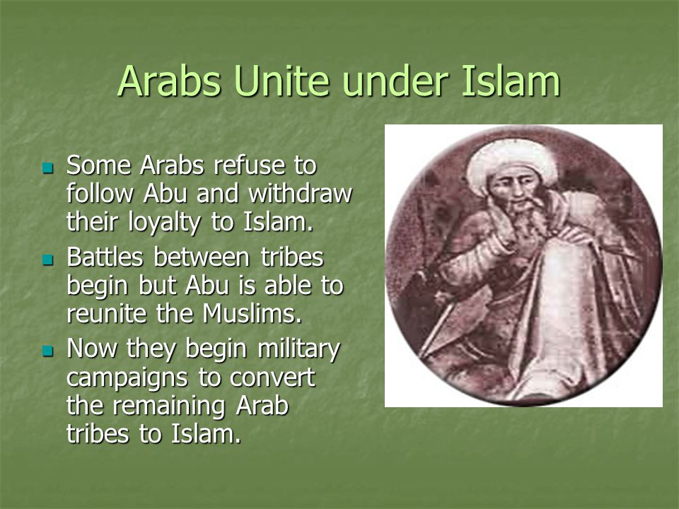 Arabs Unite under Islam