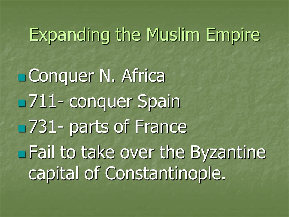 Expanding the Muslim Empire