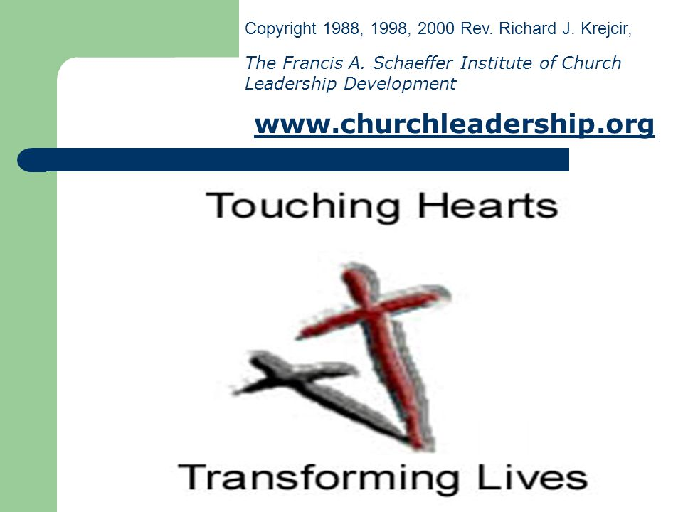 Copyright 1988, 1998, 2000 Rev. Richard J. Krejcir,
