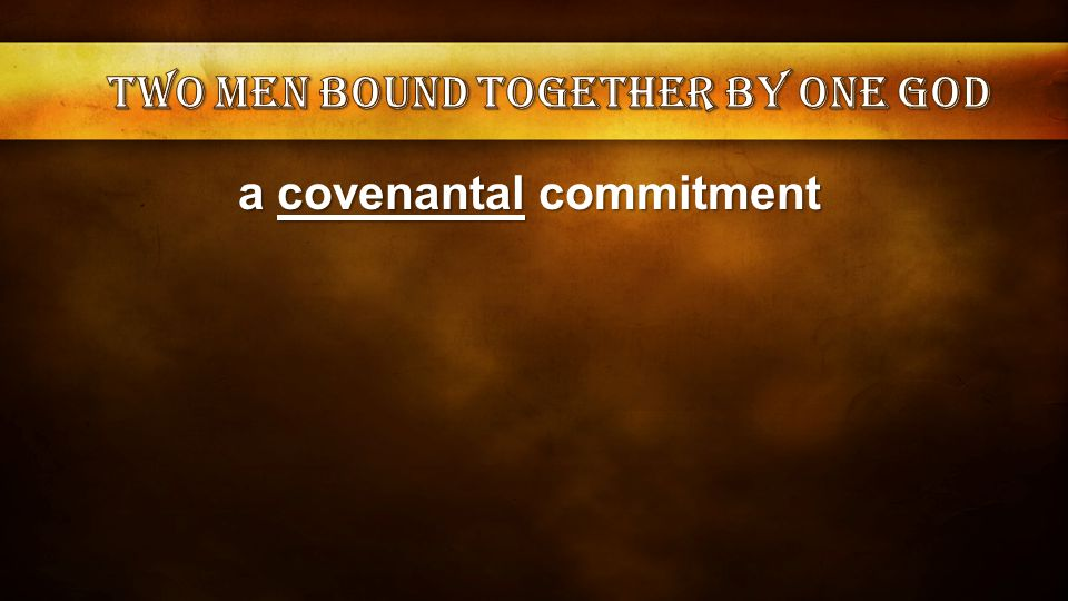 a covenantal commitment