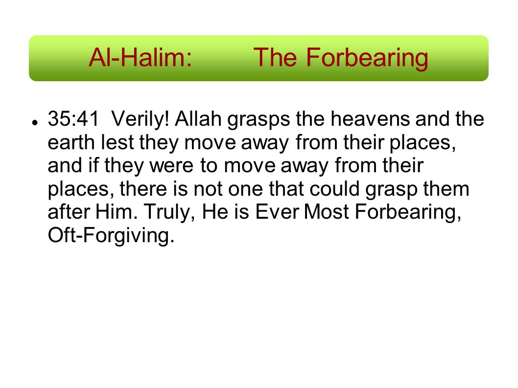 Al-Halim: The Forbearing