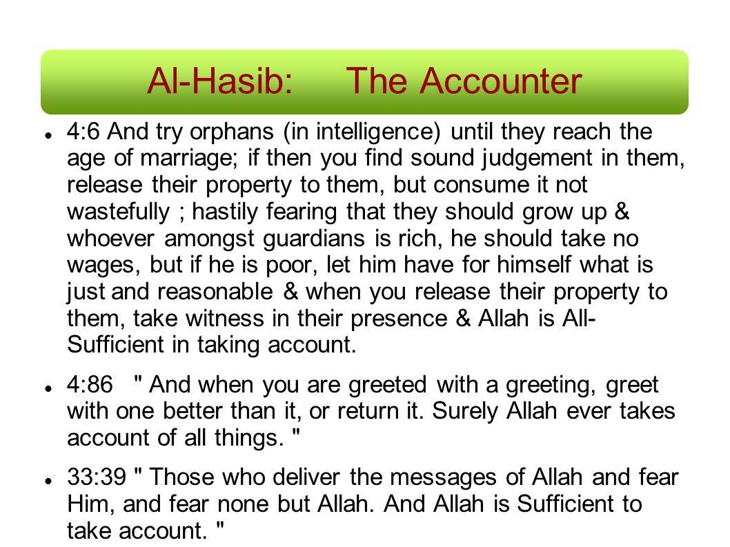 Al-Hasib: The Accounter