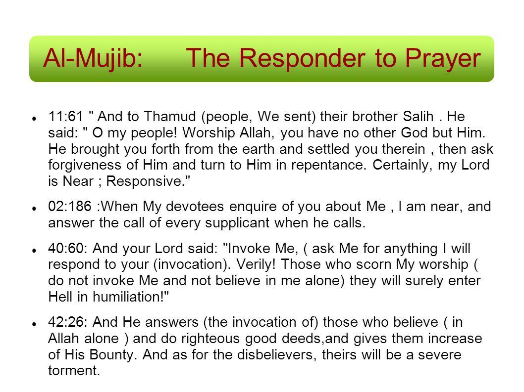 Al-Mujib: The Responder to Prayer