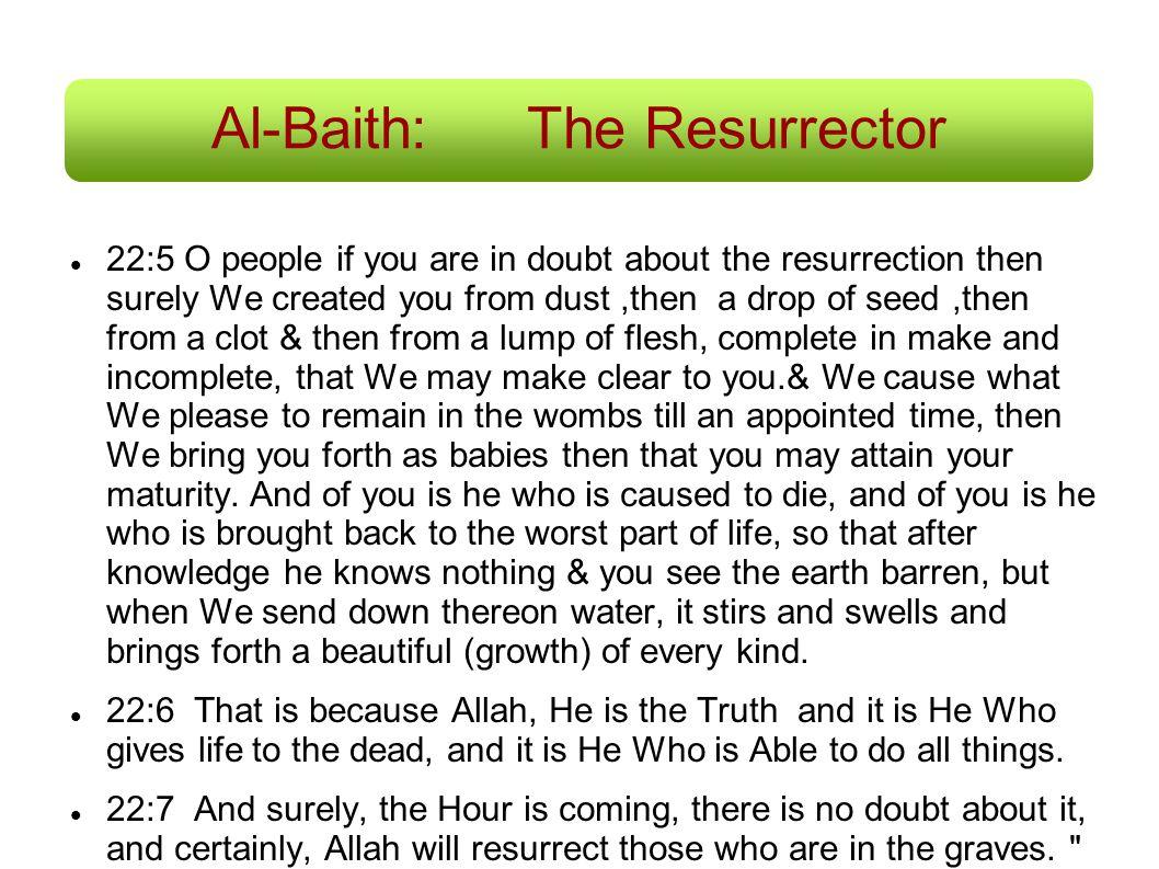 Al-Baith: The Resurrector