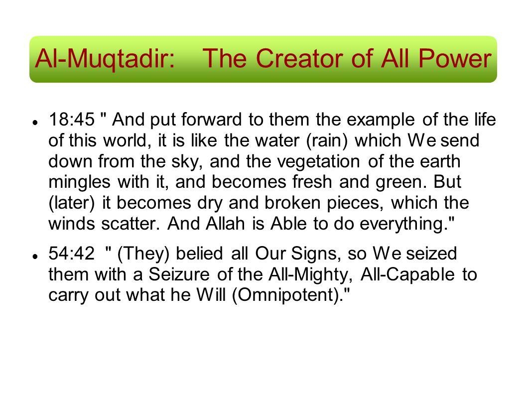 Al-Muqtadir: The Creator of All Power