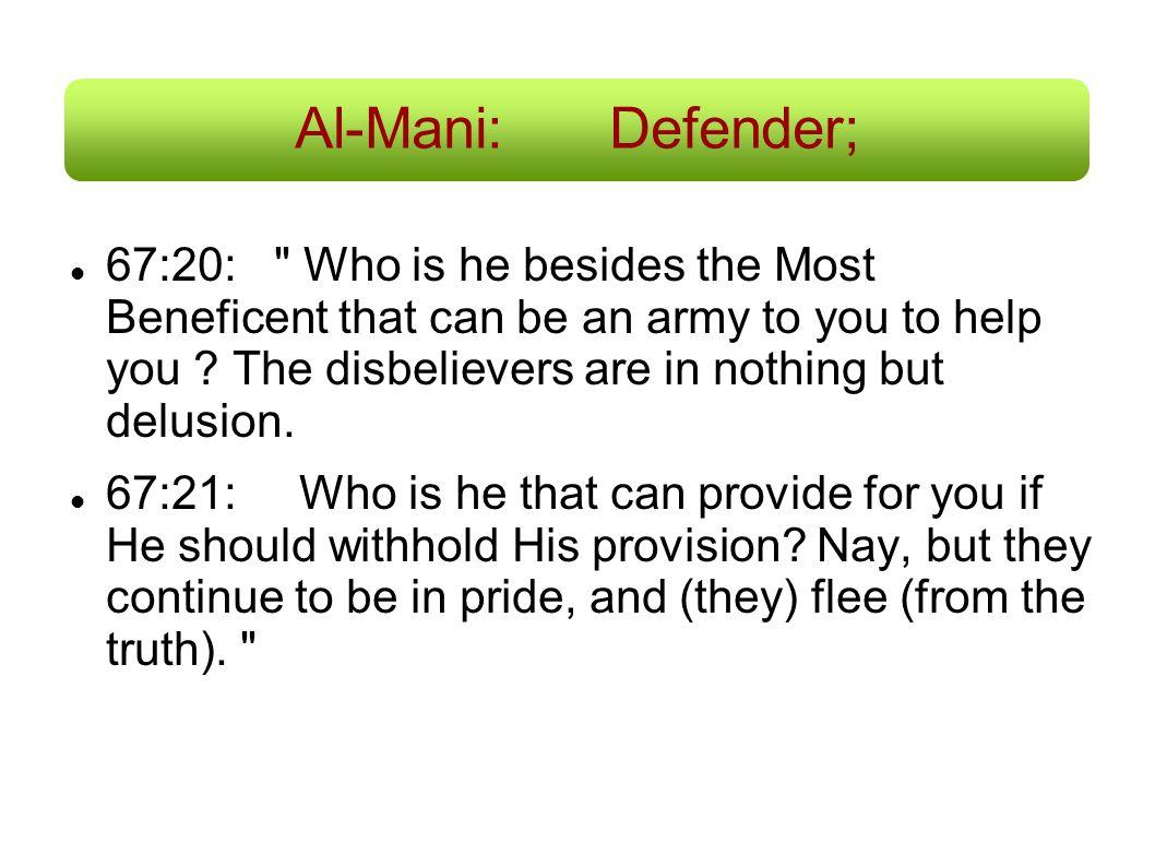 Al-Mani: Defender;