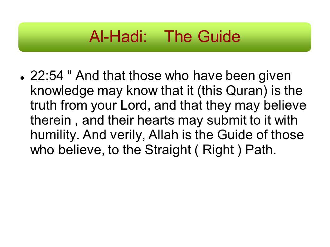 Al-Hadi: The Guide