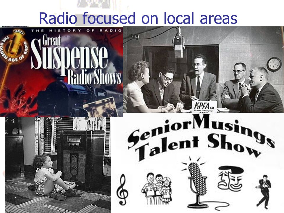 Radio focused on local areas