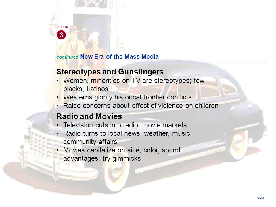 Stereotypes and Gunslingers