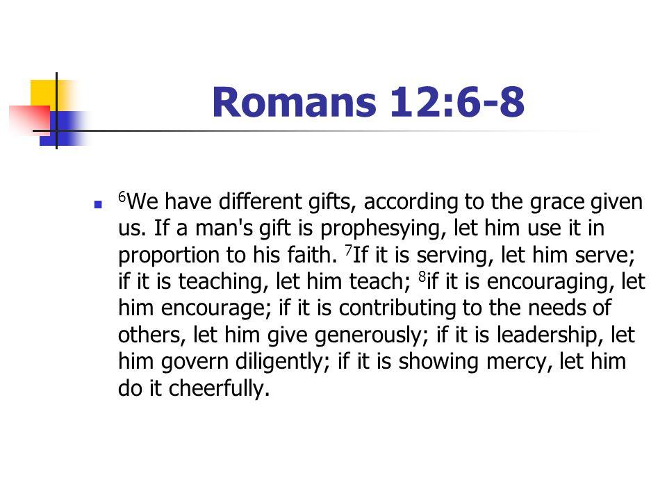 Romans 12:6-8