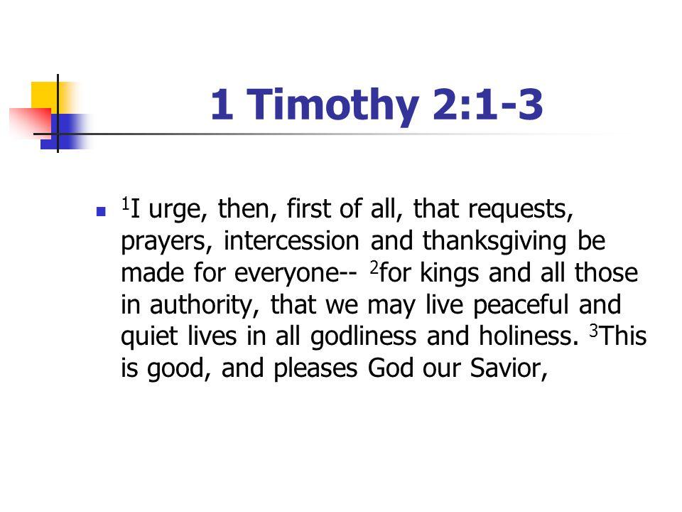 1 Timothy 2:1-3