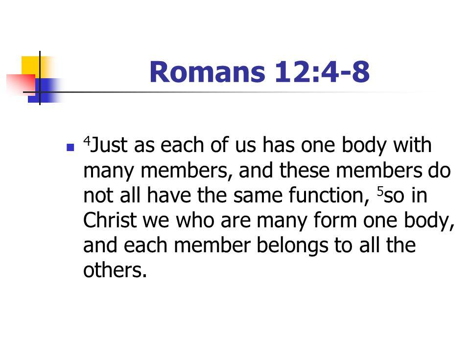 Romans 12:4-8