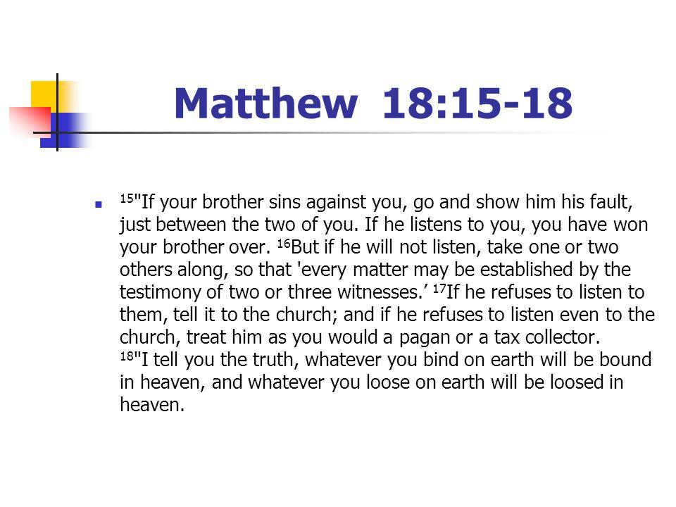 Matthew 18:15-18