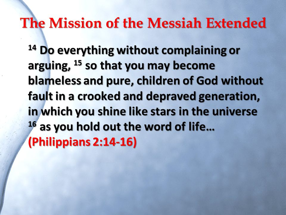 The Mission of the Messiah Extended