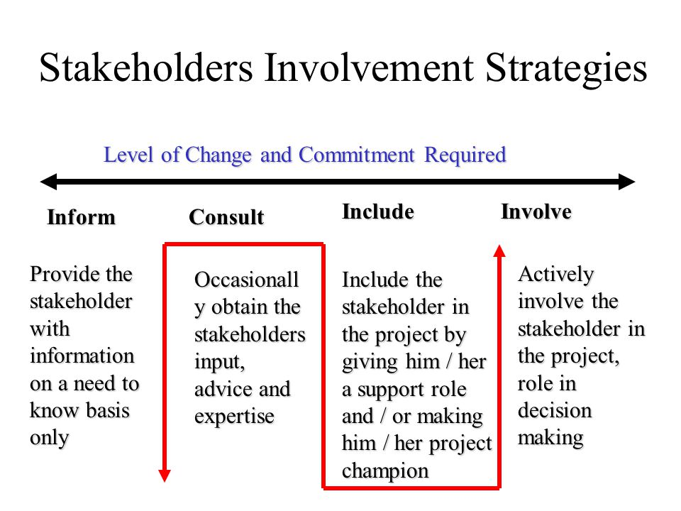 Stakeholders Involvement Strategies
