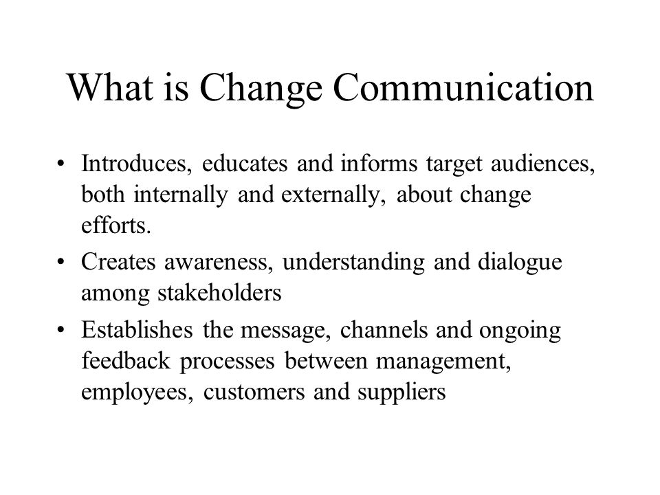 What is Change Communication