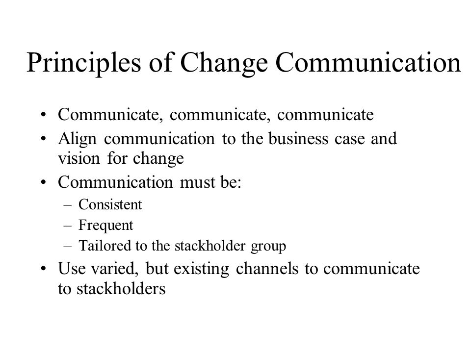 Principles of Change Communication