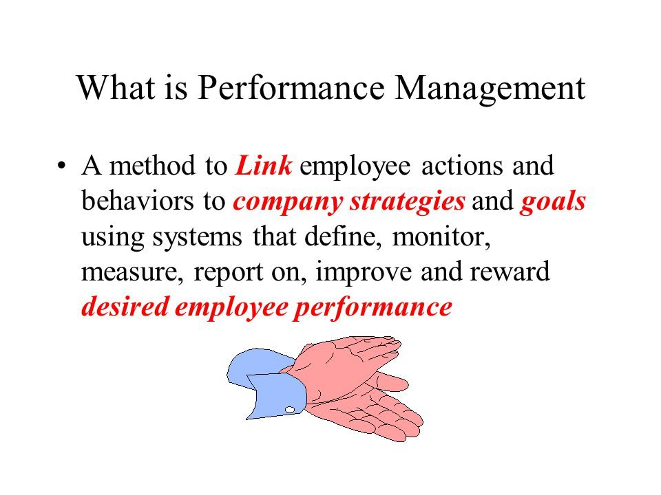 What is Performance Management