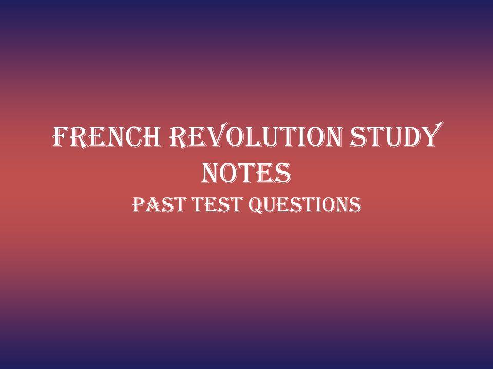 French Revolution Study Notes