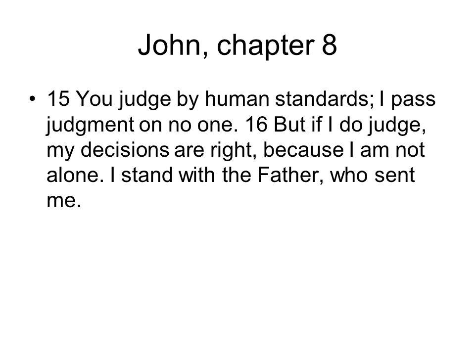 John, chapter 8