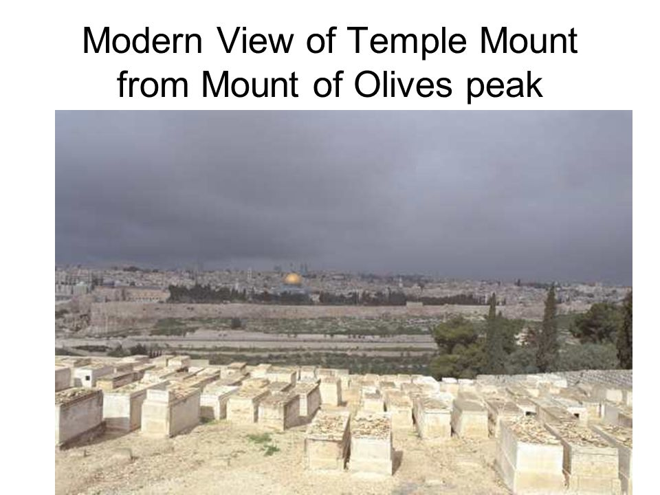 Modern View of Temple Mount from Mount of Olives peak