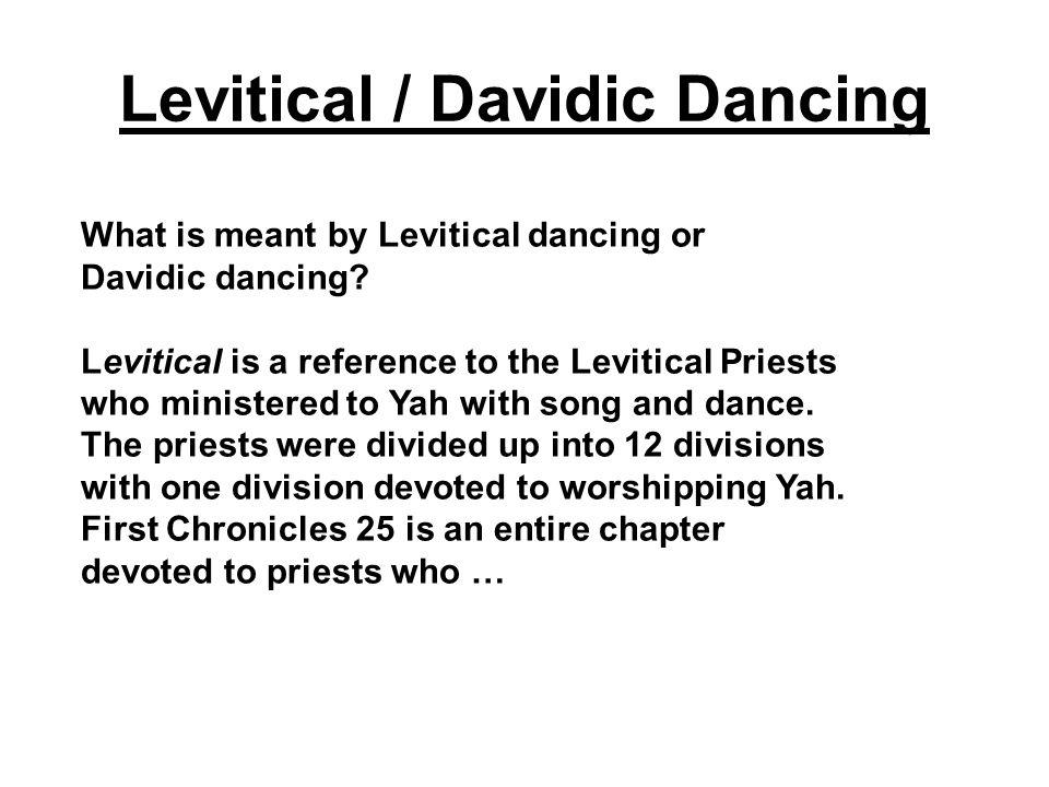 Levitical / Davidic Dancing