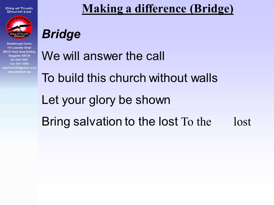 Making a difference (Bridge)