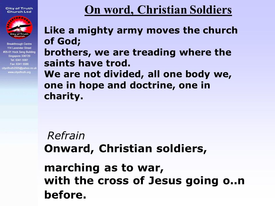 On word, Christian Soldiers