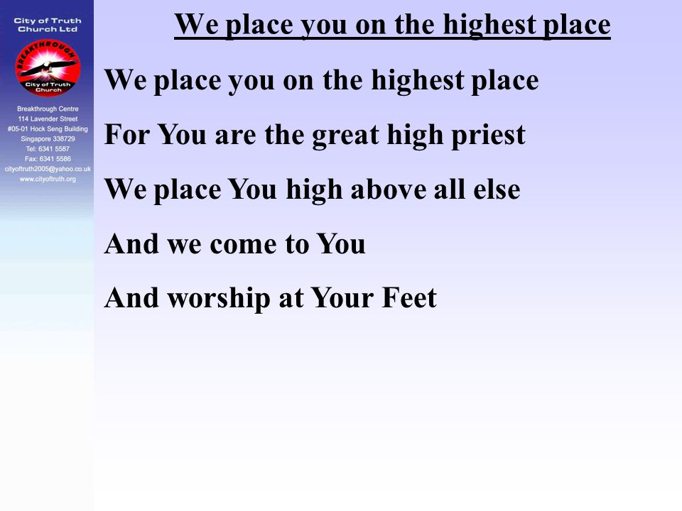 We place you on the highest place