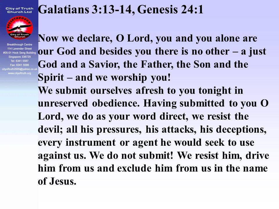 Galatians 3:13-14, Genesis 24:1
