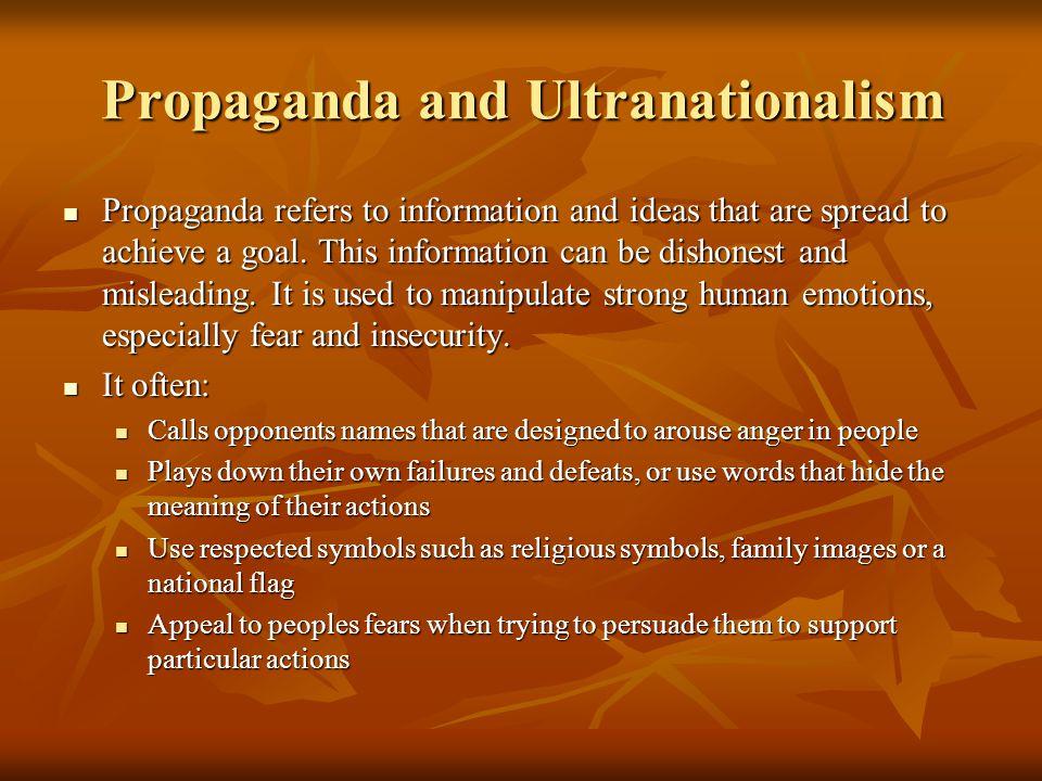 Propaganda and Ultranationalism