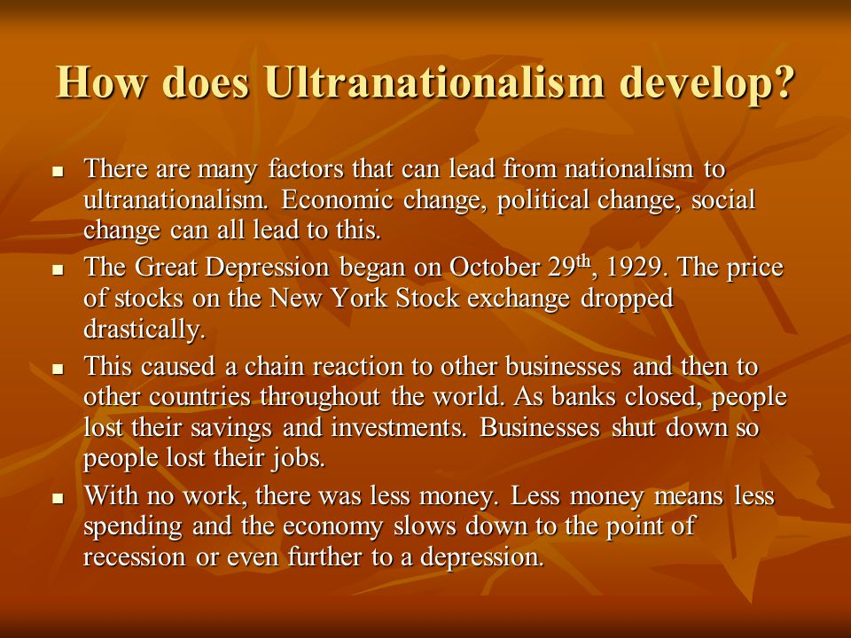 How does Ultranationalism develop