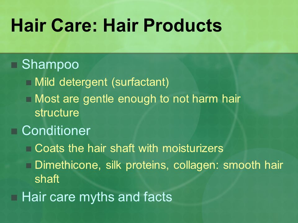 Hair Care: Hair Products