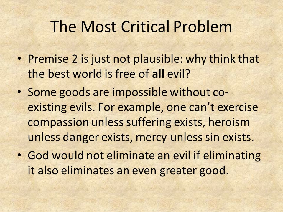 The Most Critical Problem