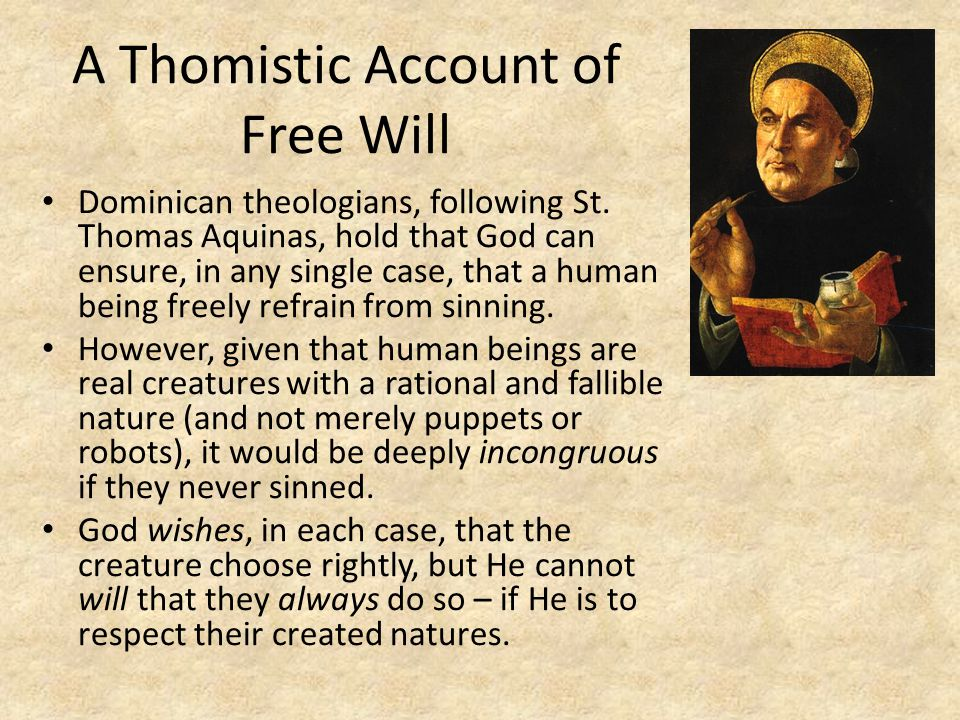 A Thomistic Account of Free Will