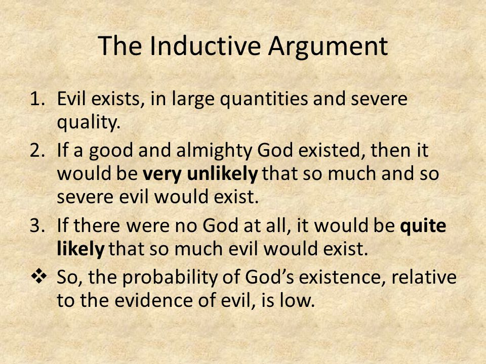 The Inductive Argument