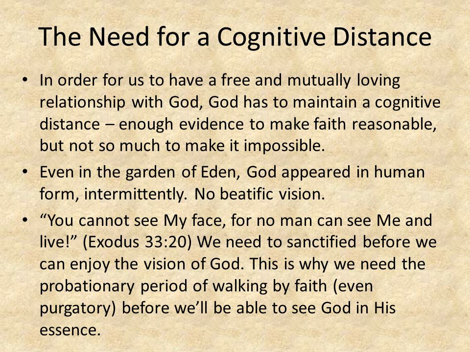 The Need for a Cognitive Distance