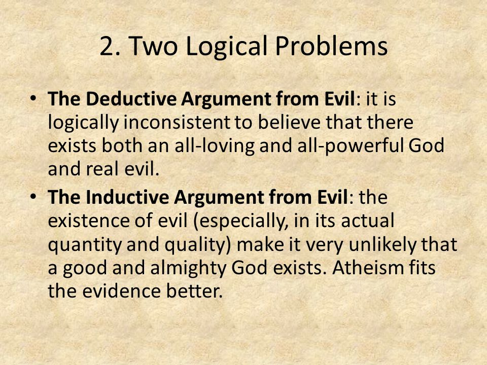 2. Two Logical Problems