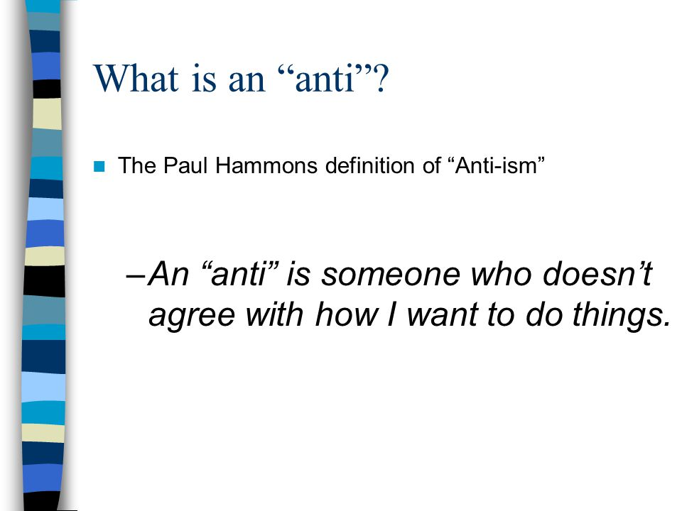 What is an anti .
