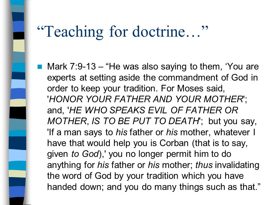 Teaching for doctrine…