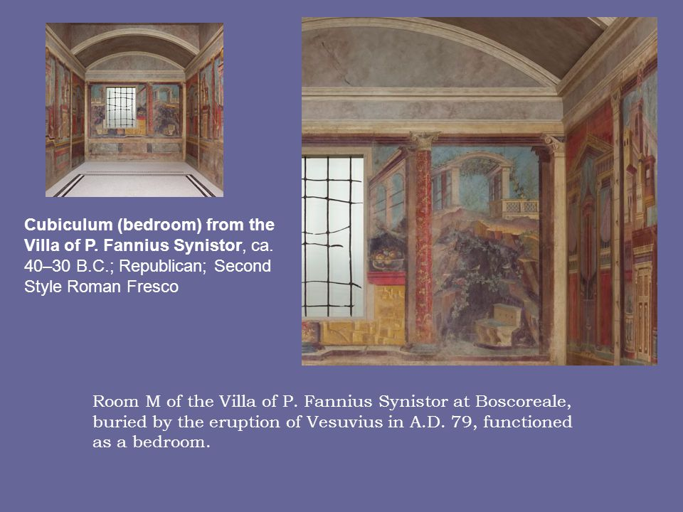 Cubiculum (bedroom) from the Villa of P. Fannius Synistor, ca. 40–30 B
