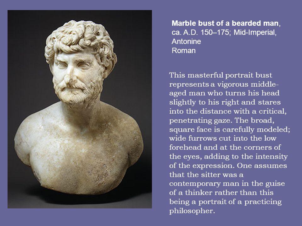 Marble bust of a bearded man, ca. A. D