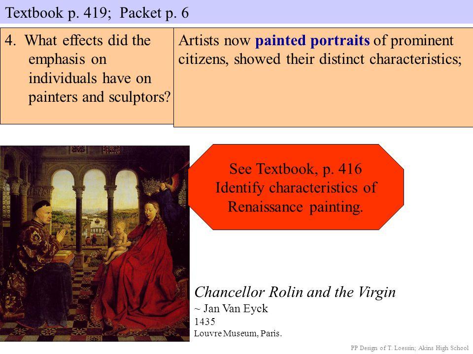 Identify characteristics of Renaissance painting.