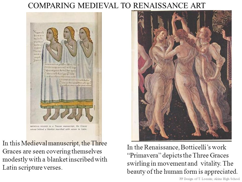 COMPARING MEDIEVAL TO RENAISSANCE ART