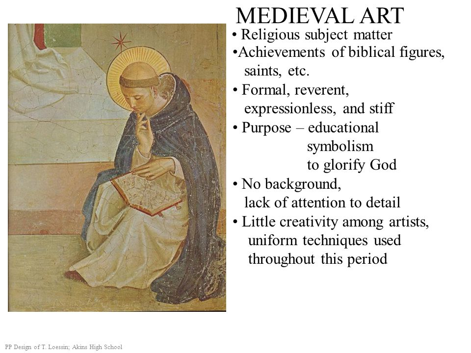 MEDIEVAL ART Religious subject matter