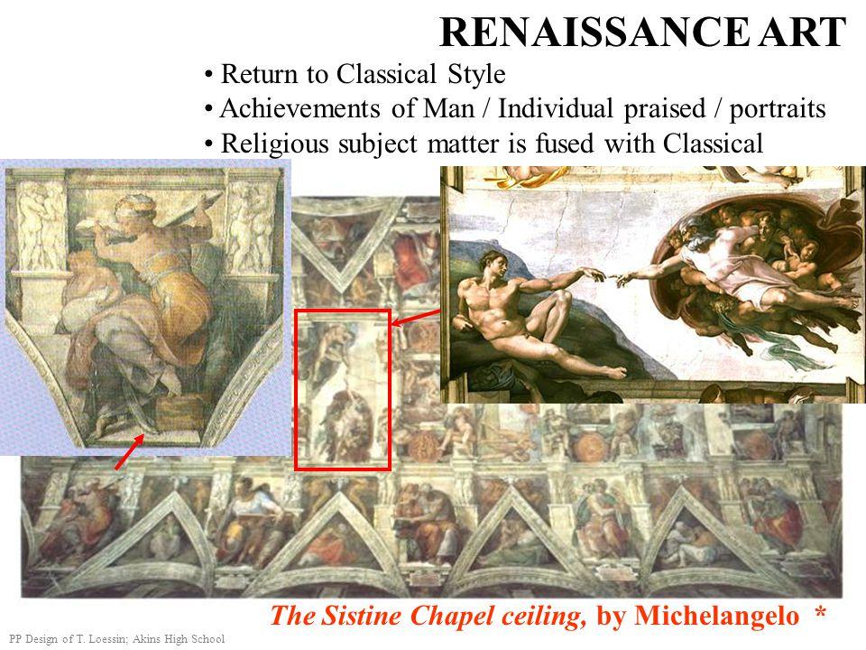 RENAISSANCE ART Return to Classical Style