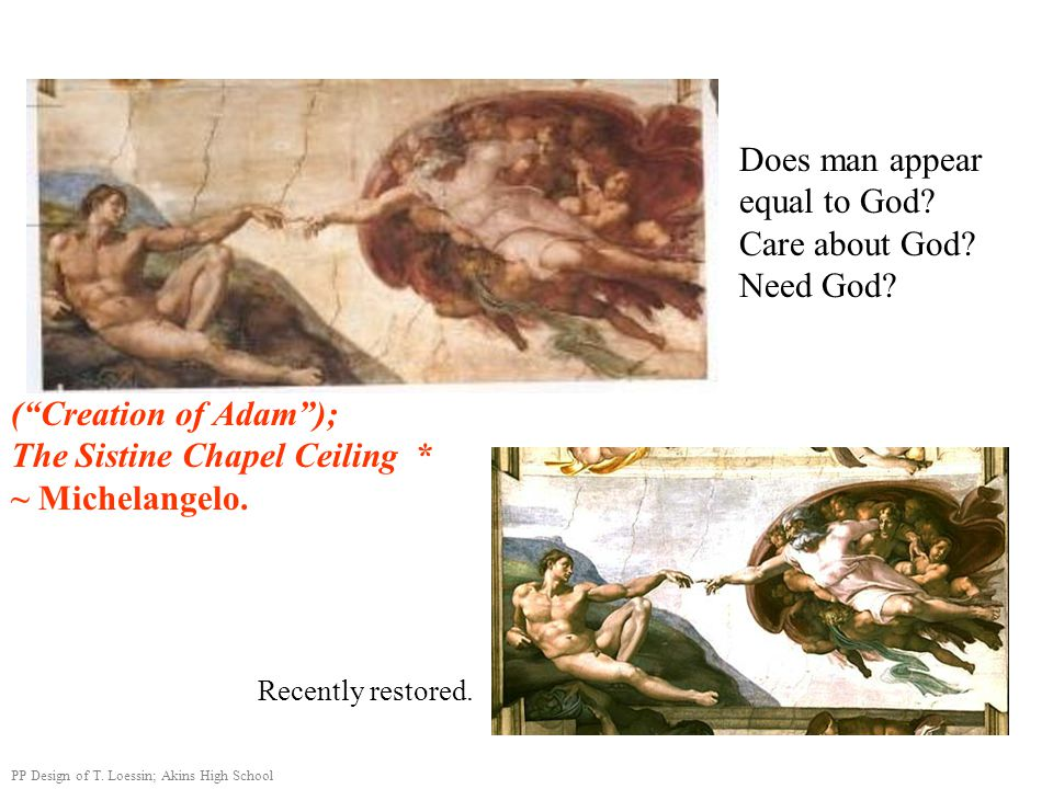 Does man appear equal to God Care about God Need God